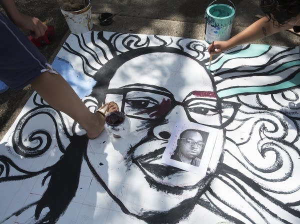 A mural of Philando Castile
