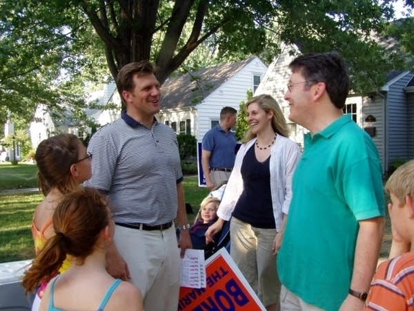 Andrew Borene with supporters