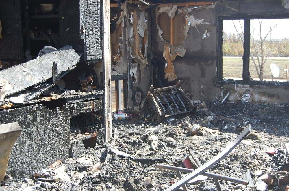 Burned home