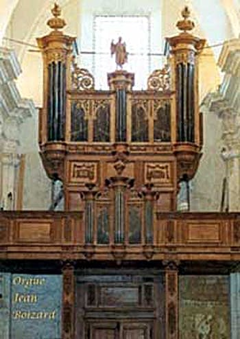 1714 Boizard organ at Saint Michel Abbey, Saint Michel en Thiérache, France