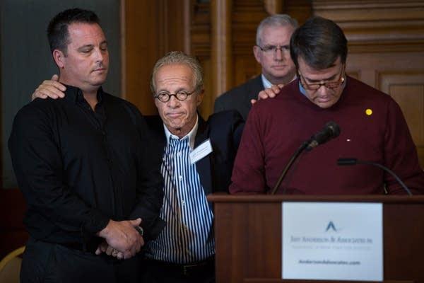 Jeff Anderson with survivors