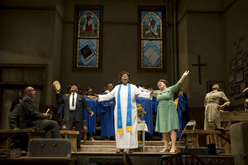 'The Amen Corner' cast