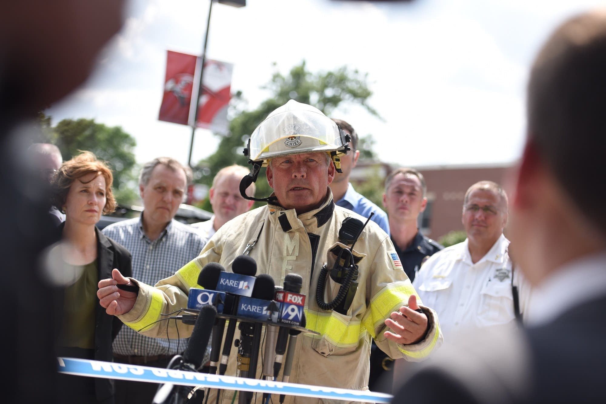Officials hold news conference after explosion