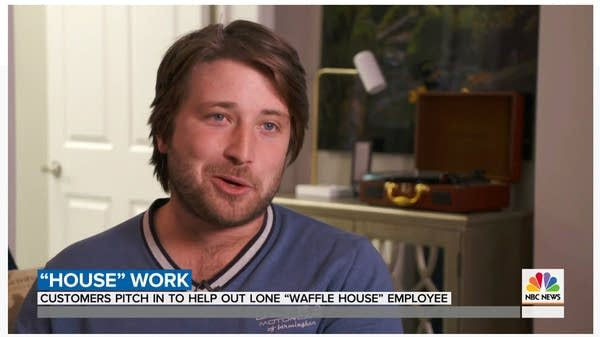 Still image from a Today Show story about Waffle House helpers