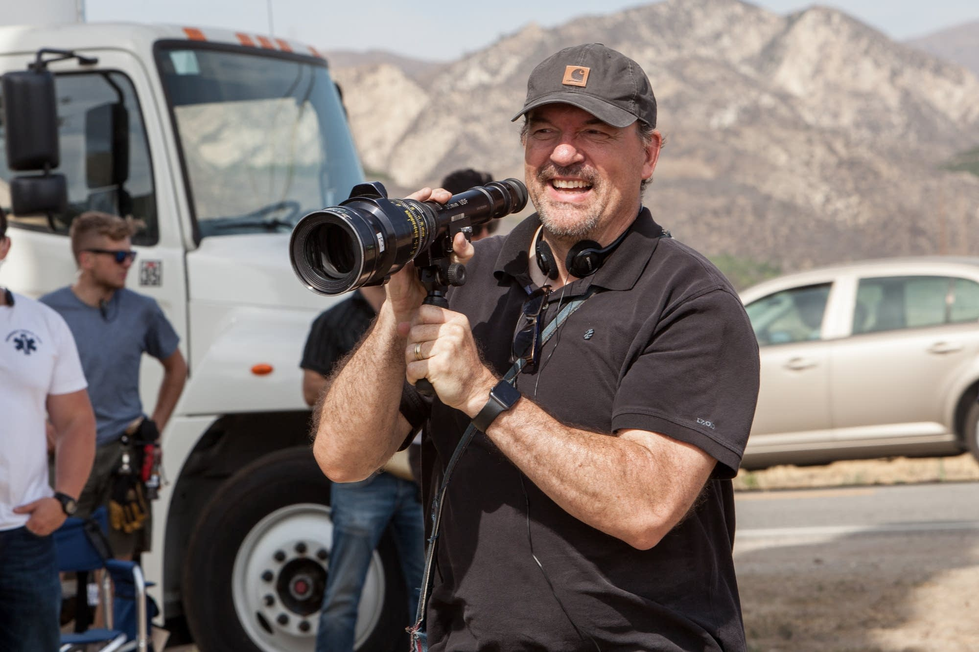 John Carroll Lynch on the set of 'Lucky' in Arizona.
