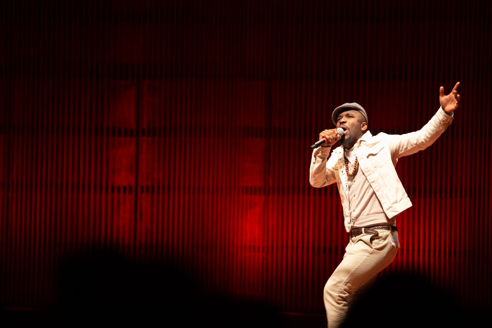 """Chadwick """"Niles"""" Phillips performs during the MLK Day celebration."""