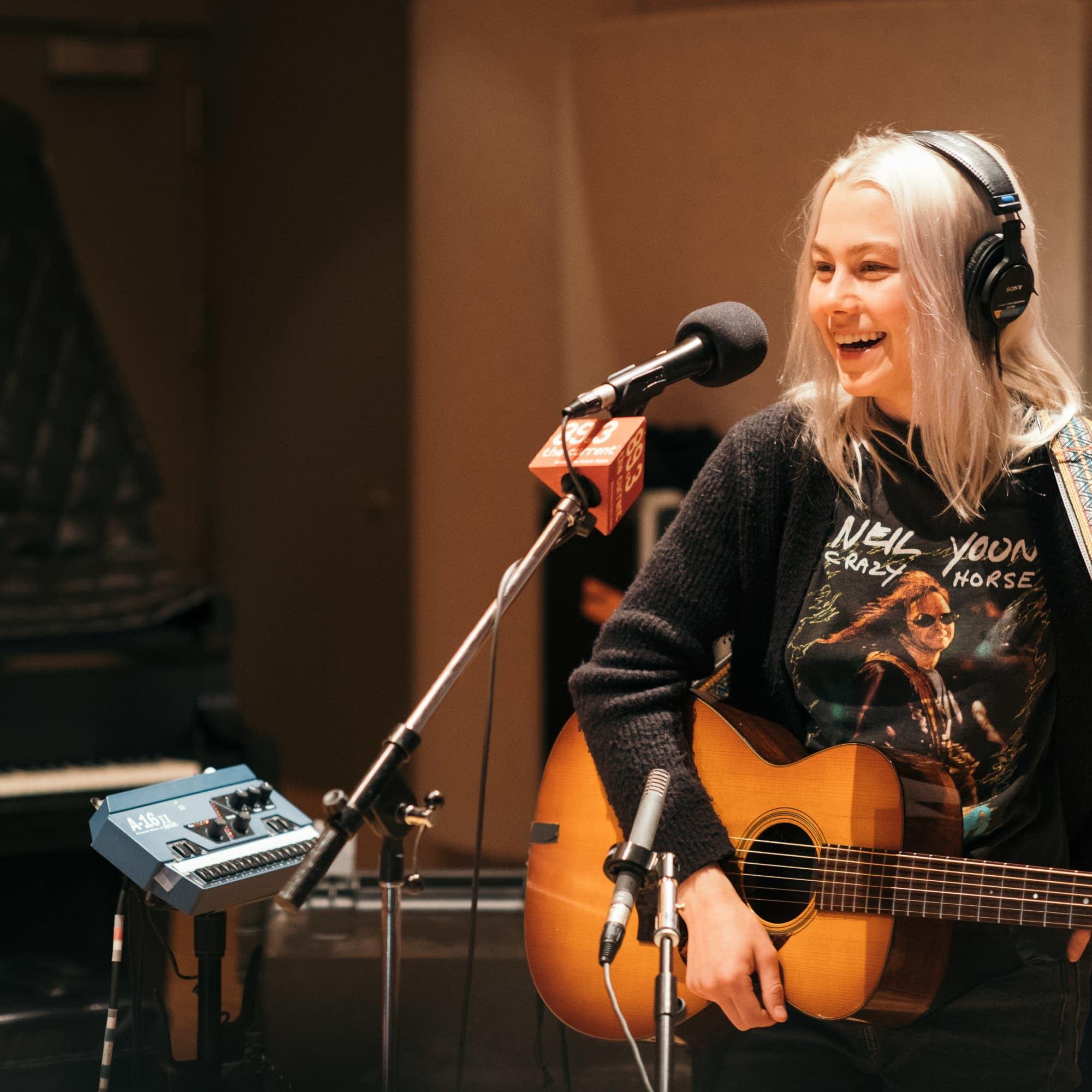 Phoebe Bridgers performs in The Current studio