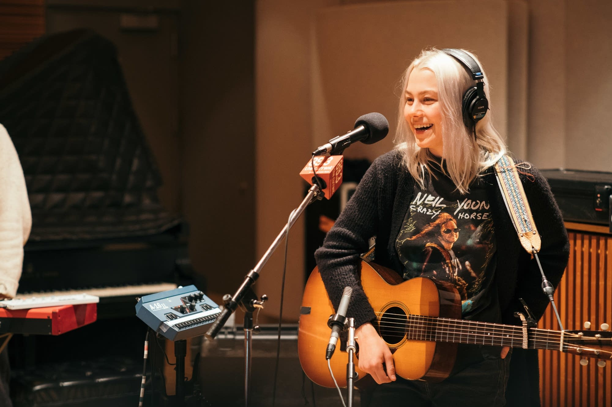 Phoebe Bridgers performs in The Current studio