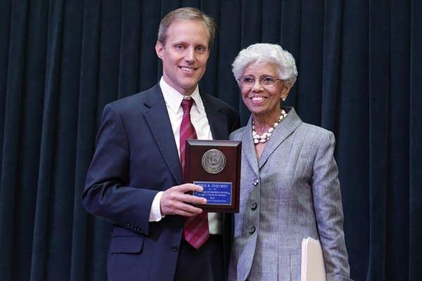 Steve Simon, left, and Dr. Josie Johnson