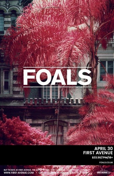 Foals First Ave Poster