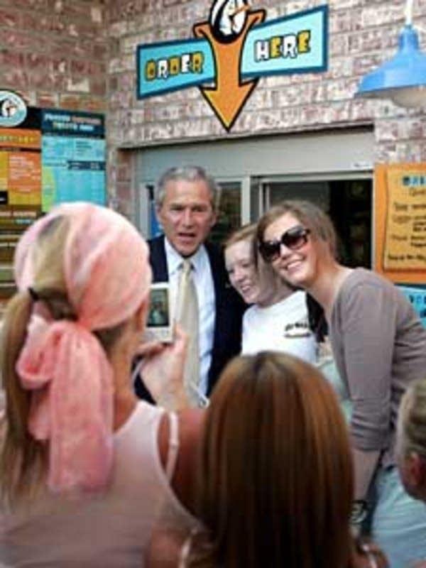 Bush stops in Wayzata