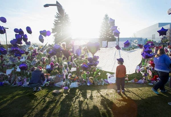 A memorial outside Paisley Park