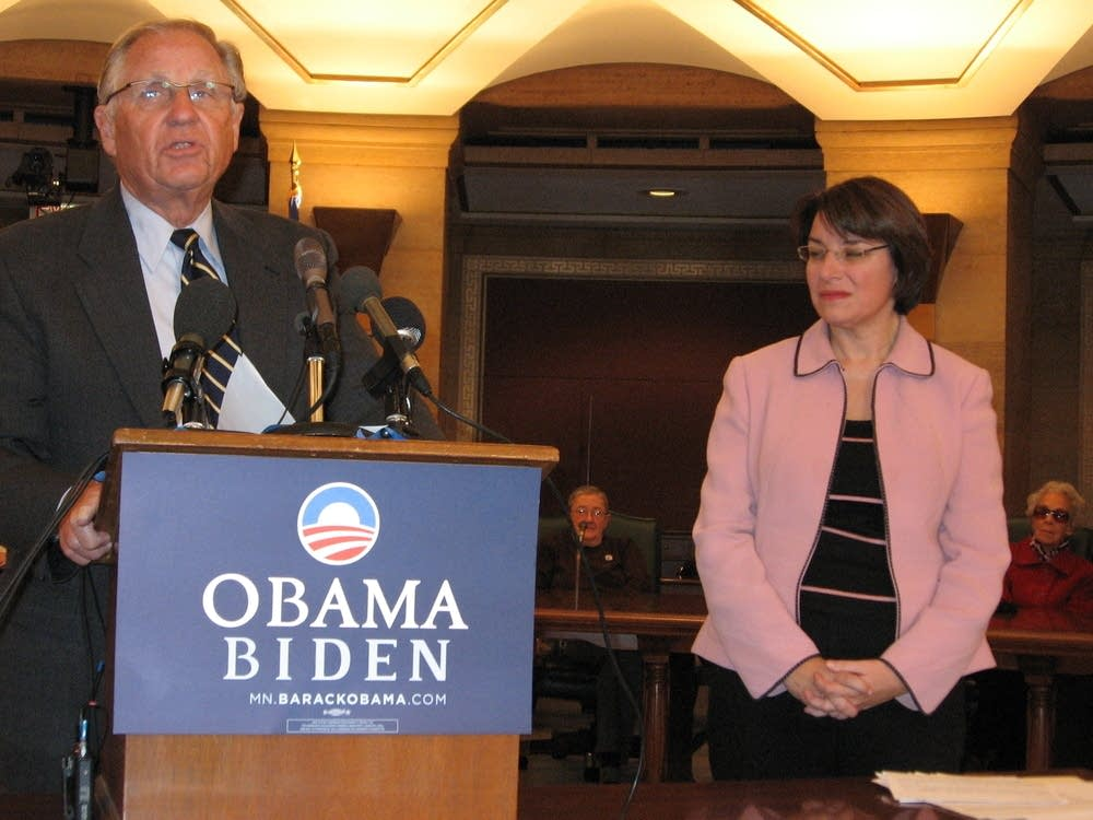Arne Carlson and Amy Klobuchar