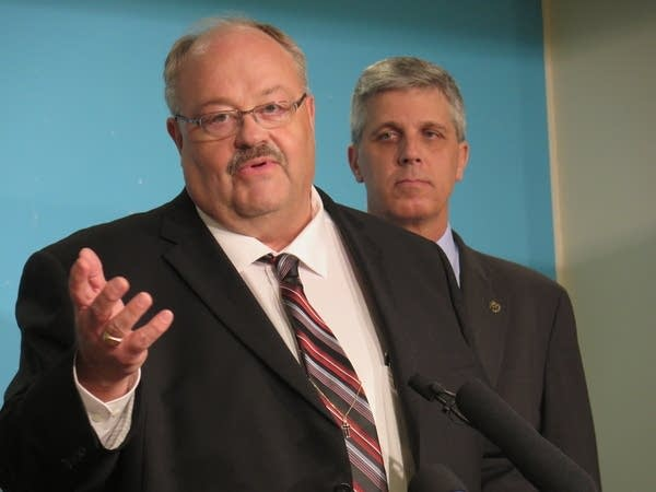 Greg Davids, left, and Steve Drazkowski