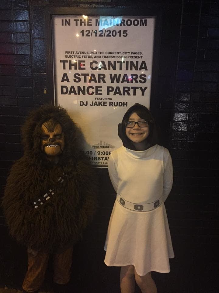 Kids gather outside First Avenue for Star Wars fun