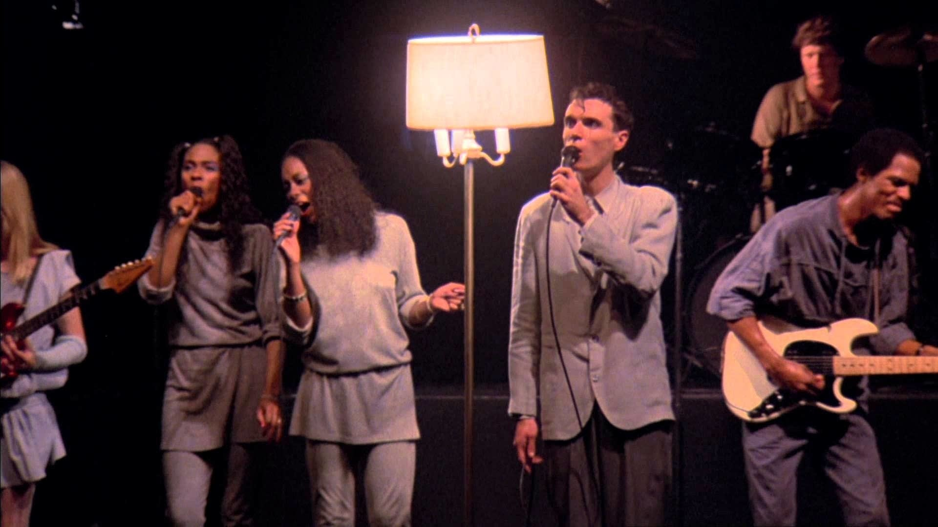 David Byrne and collaborators in 'Stop Making Sense'