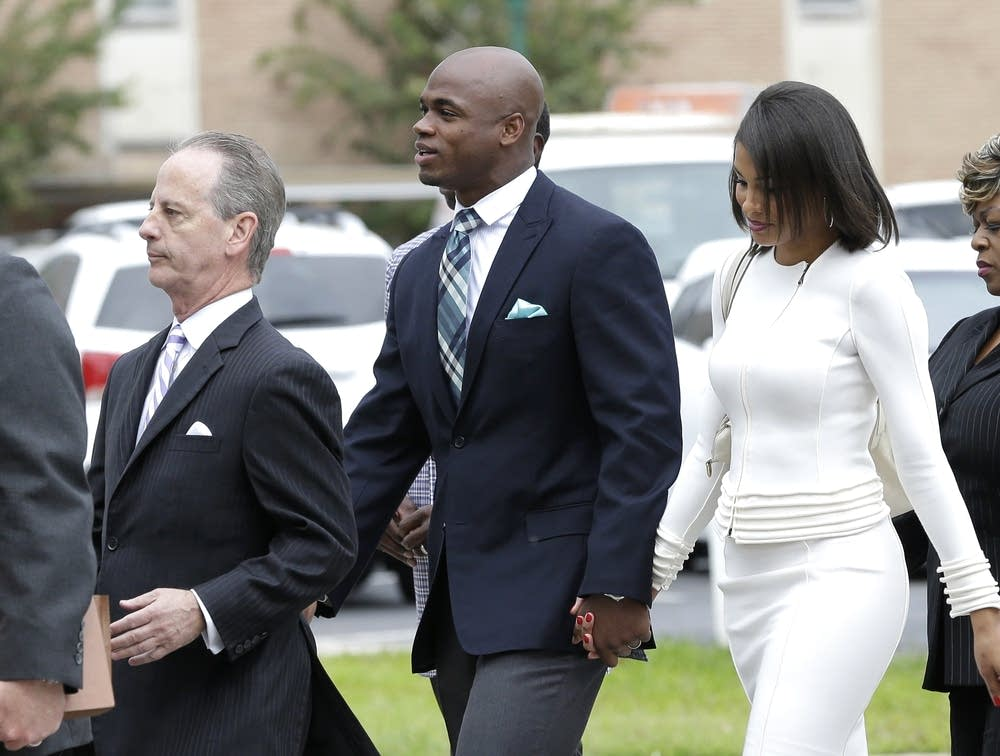 Adrian Peterson, Ashley Brown Peterson, Brian Wice