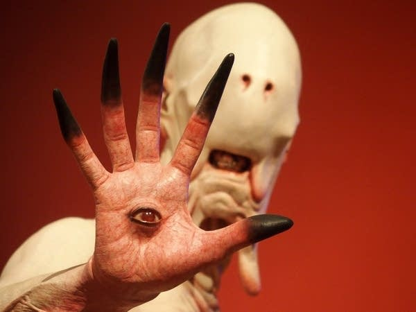 Sculptures of Guillermo del Toro's film monsters made for the exhibit.