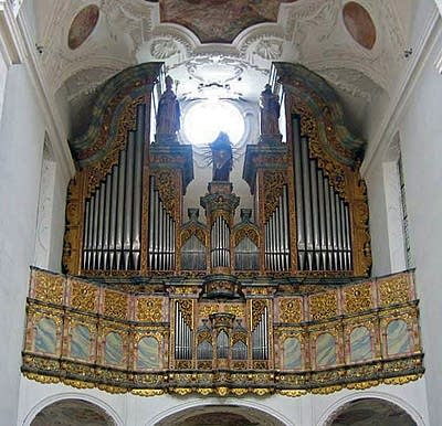 1744 Bossart organ at Kloster Muri, Switzerland