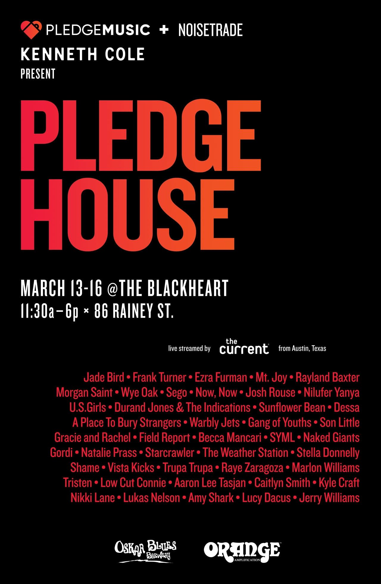 PledgeMusic and NoiseTrade PledgeHouse The Current SXSW