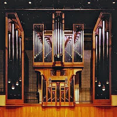 1987 Brombaugh organ in Tye Recital Hall, Iowa State University, Ames, IA