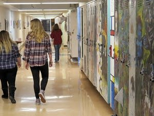 Students walk the halls at the Perpich Arts HS.
