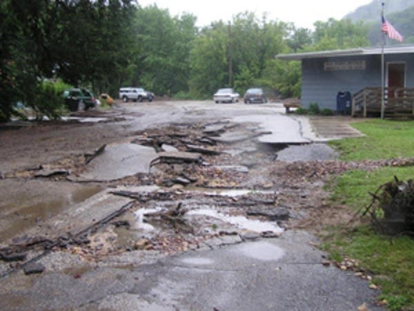 Washout in Minnesota City