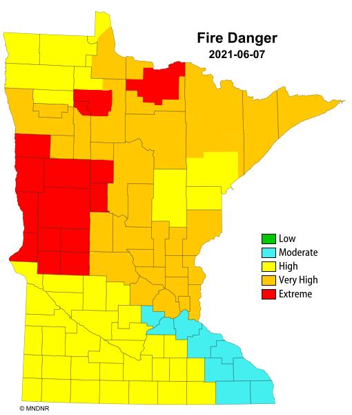 Fire danger in Minnesota
