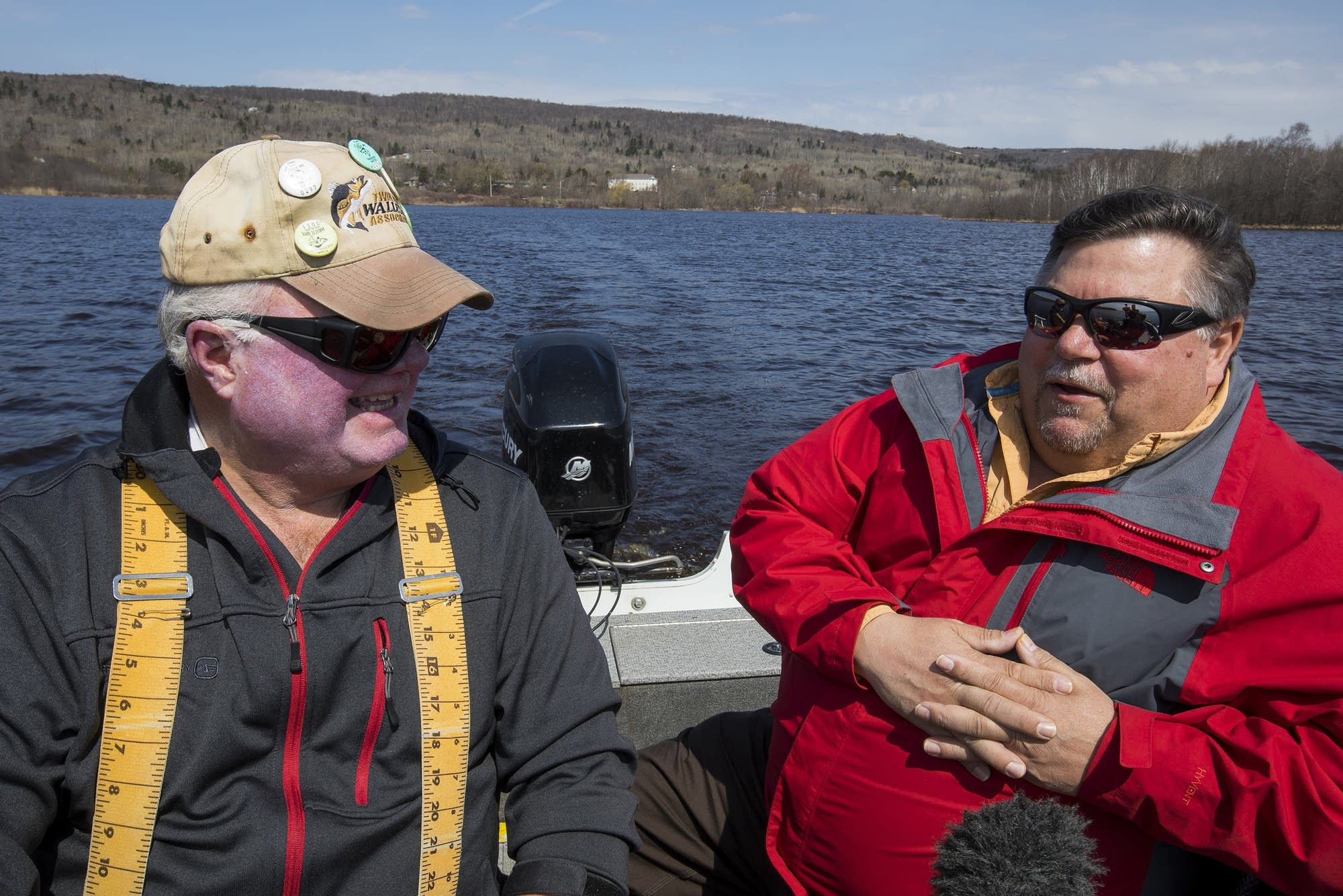 Fisherman Rob Maas and MPCA  hydrogeologist Mike Bares