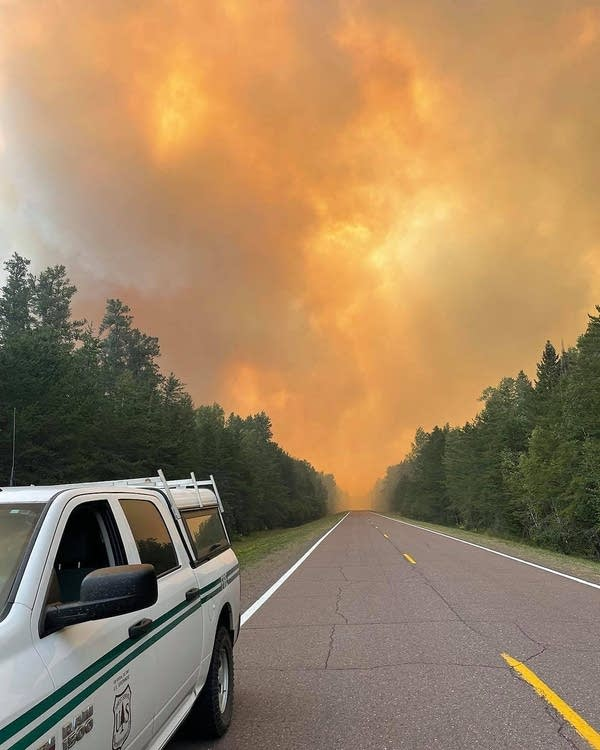 The Greenwood Fire spreads across Lake County Highway 2