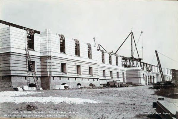 Capitol construction on Sept. 28, 1898