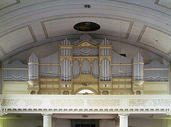 1928 Behmann organ at Saint Martin's Parish Church, Dornbirn, Austria