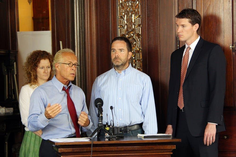 Attorney Jeff Anderson spoke at a press conference