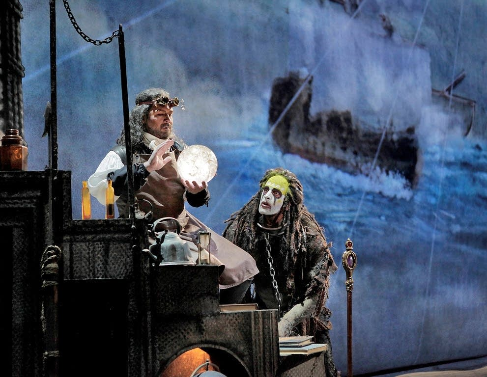 Daniels as Prospero and Pisaroni as Caliban
