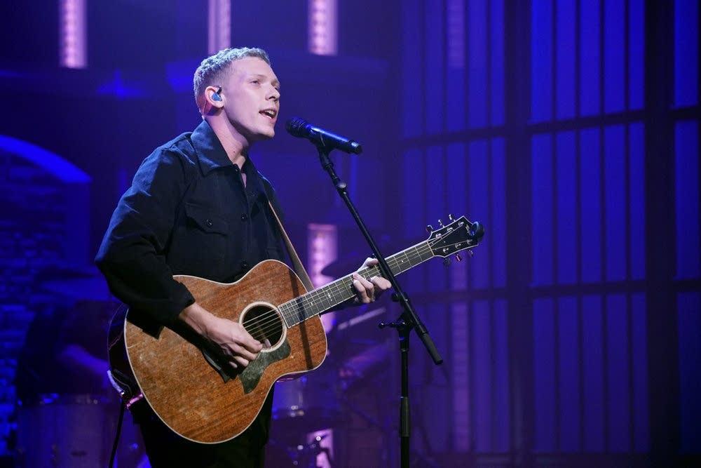Matt Maeson performs on 'Late Night with Seth Meyers'