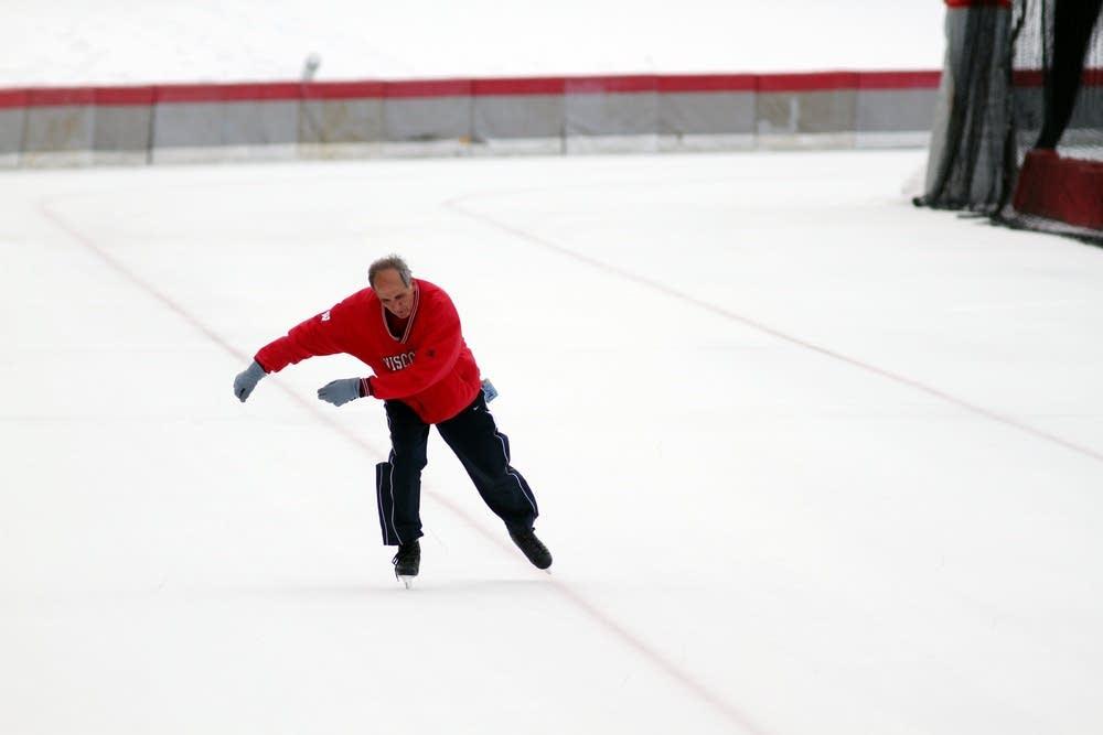 Skating laps
