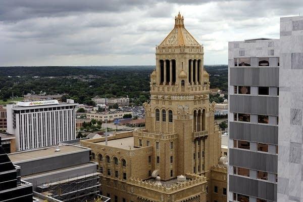Plummer bell tower in Rochester