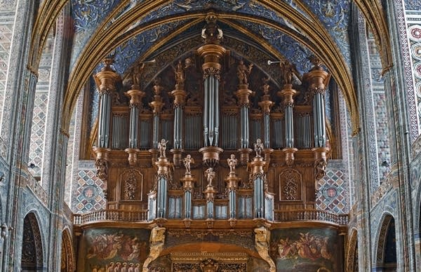 1735 Moucherel organ at the Cathedrale Sainte-Cecile, Albi, France