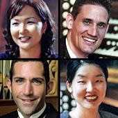 The four prize winners: clockwise Yoon-Mi Lim, Timothy Olsen, Choi, Ji-Yoen and Scott Montgomery.