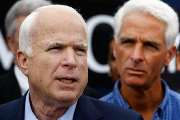 John McCain and Gov. Charlie Crist of Florida