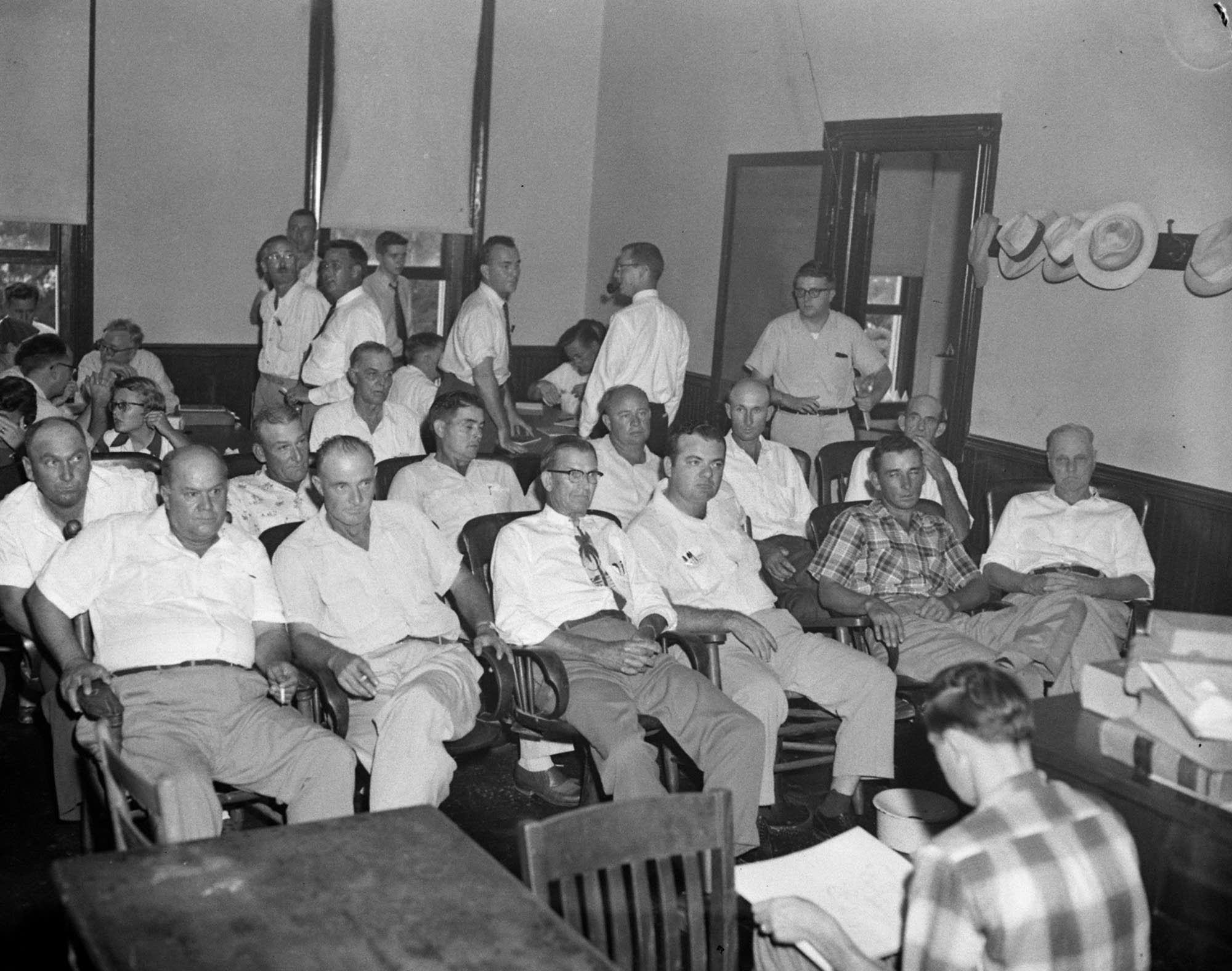 Jurors for the trial of Roy Bryant and J.W. Milam