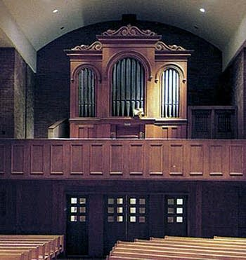 1868 Steere & Turner organ at the University of Connecticut, Storrs,...