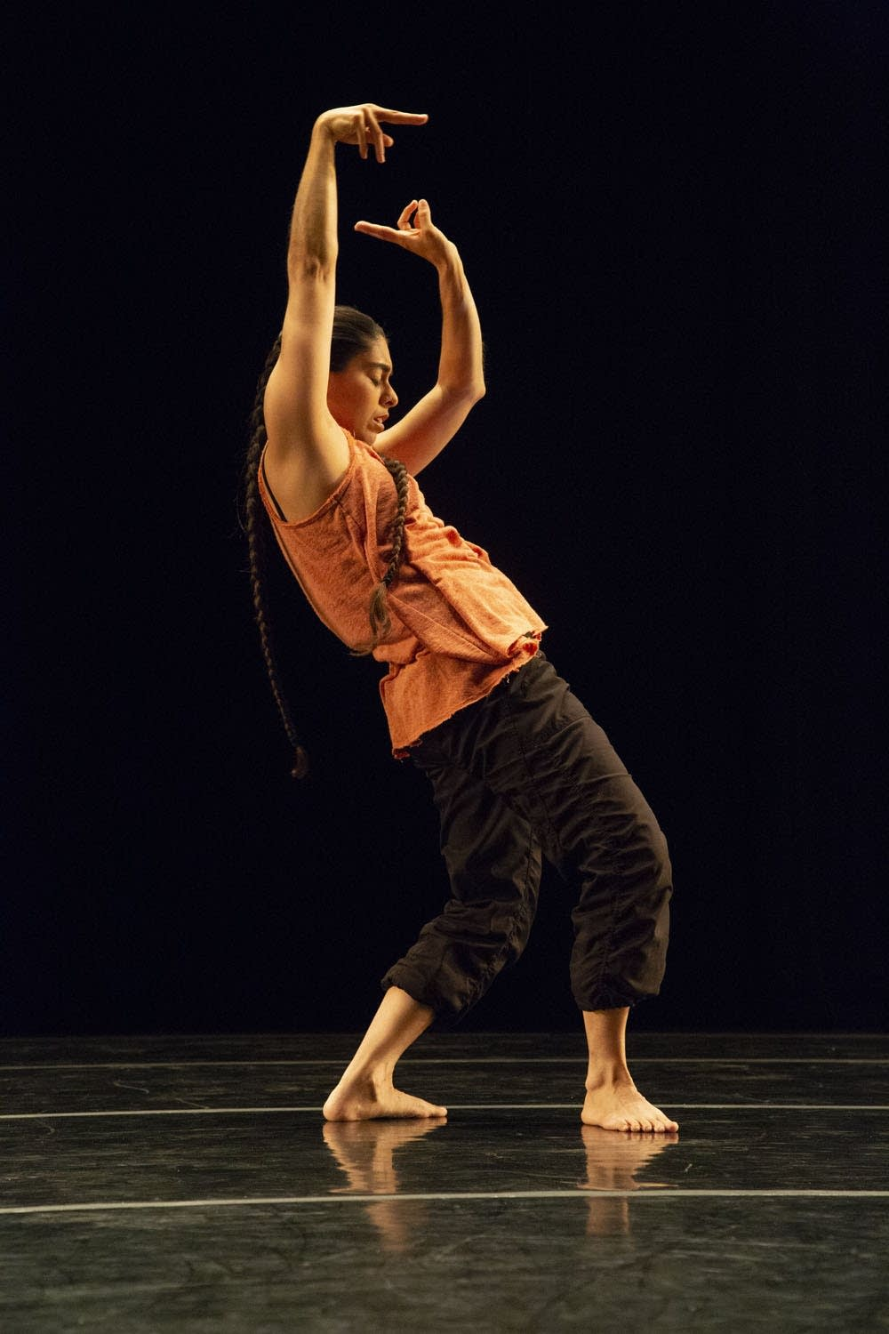 "Dancer Zoe Klein performs a solo in ""Weave."""