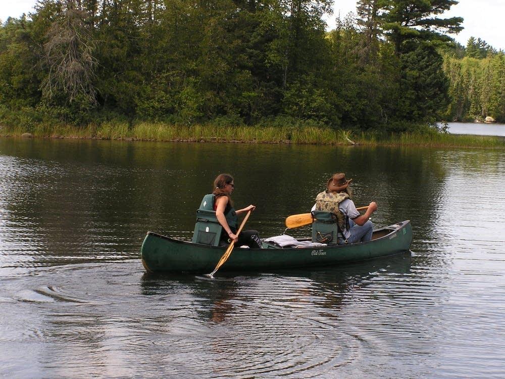 Paddlers at Sawbill