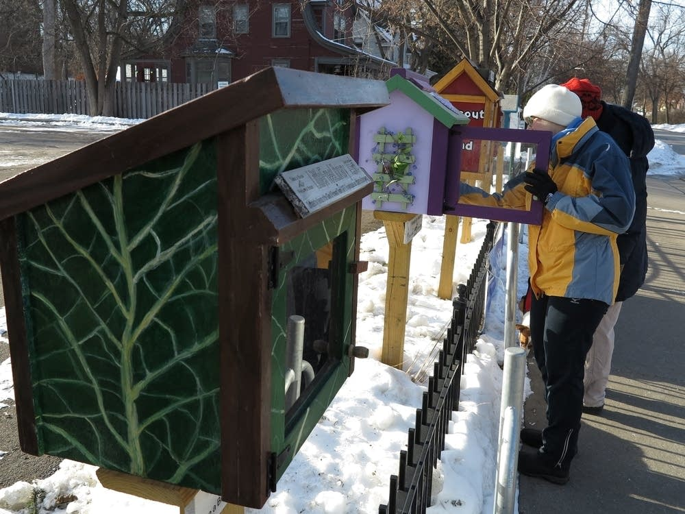 Little Free Library boxes in south Minneapolis