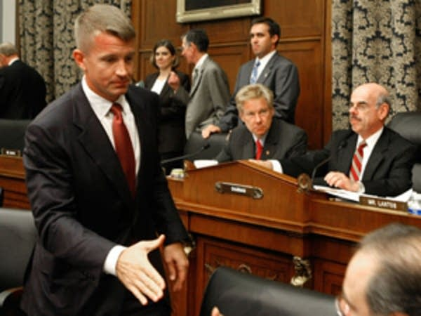 Erik Prince after the hearing