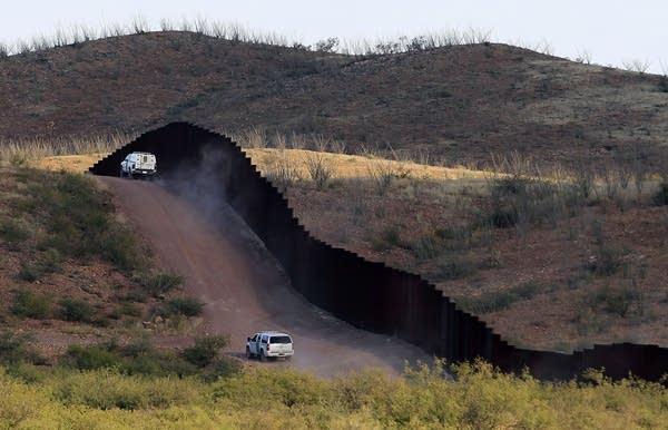 File: Patrolling the border near Naco, Ariz.