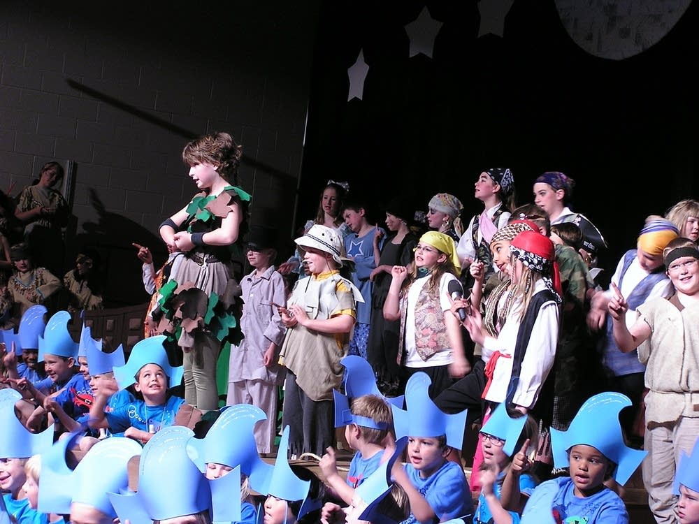 "Students act out ""Peter Pan"""