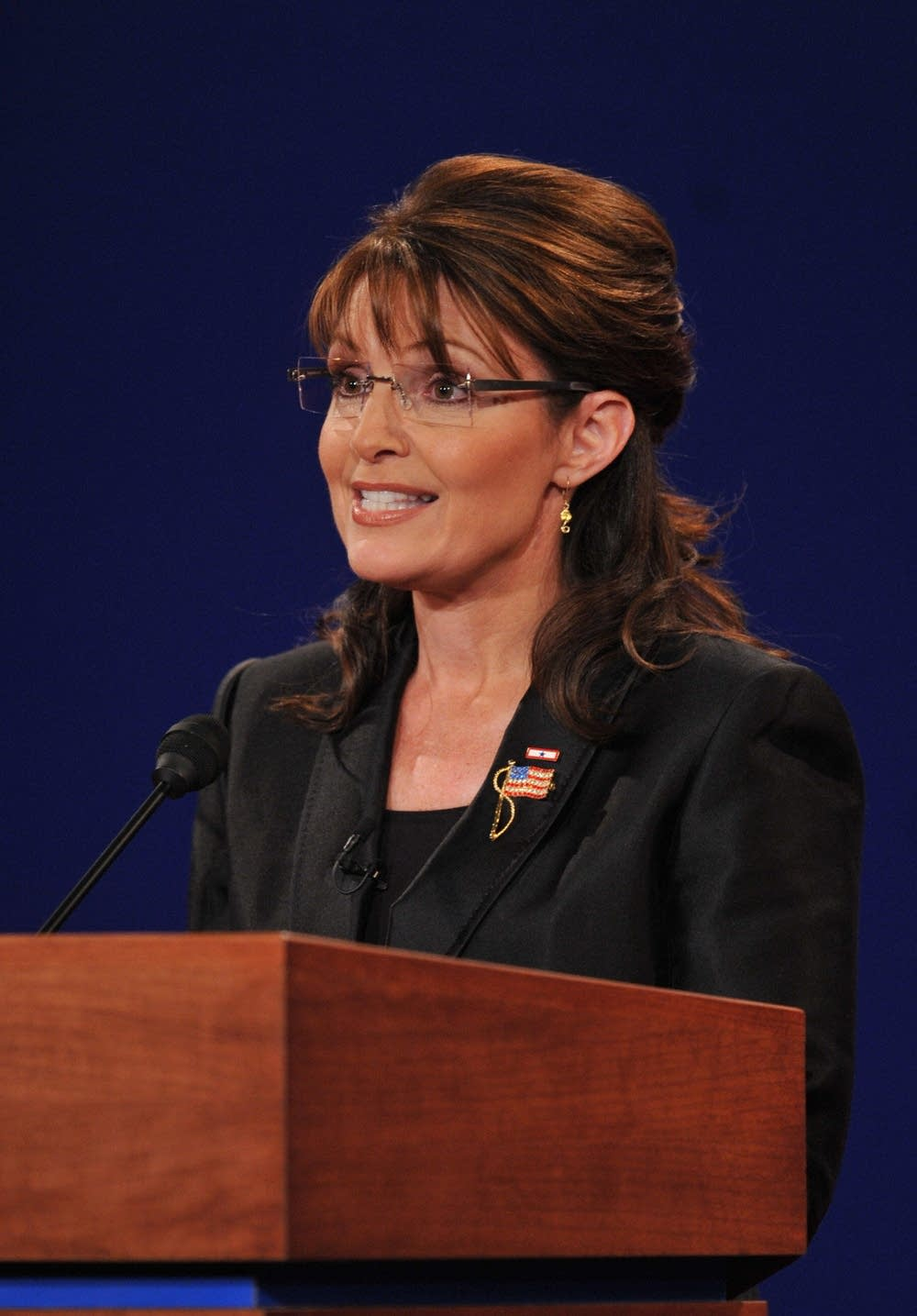 Republican Sarah Palin answers a question