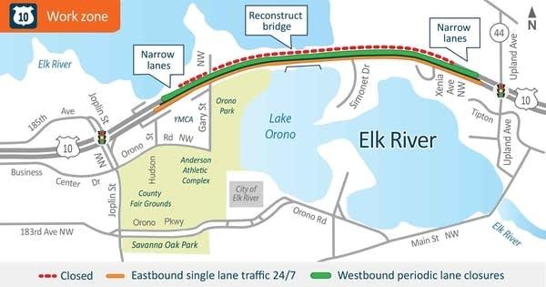 Highway 10 Elk River-Lake Orono Bridge